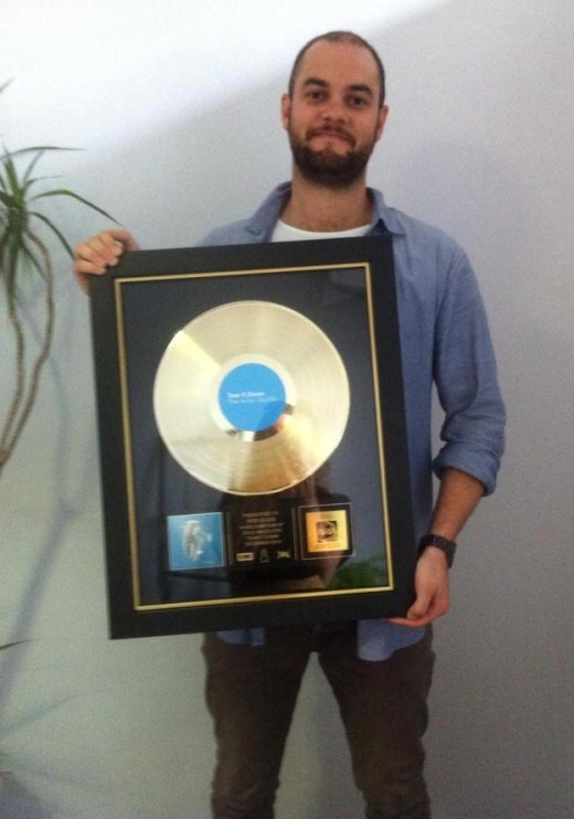 Media Arts Lawyers Rob Glass Aston Shuffle Gold Plaque